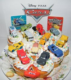 #Disney #Cars #Movie #Deluxe #Cake #Toppers #Cupcake #Decorations #Set of #14 with #Plastic #Cars, a #Sticker #Sheet and #ToyRing #Featuring #Lightning #McQueen, #Nash, #Dr. #Damage and More! This fun #cake topper #14 #set includes 12 #Disney #Cars figures, one #sticker and a #Cars Ring! The all #plastic 2 inch #cars work best on 12 inch cakes or regular cupcakes. They feature popular #Cars #Movie characters and are great for any #Disney fan! https://automotive.boutiquecloset