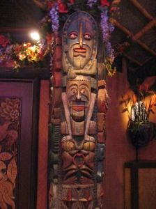 When I am not there...the Tikis.