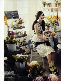Lush Gardening Editorials - Celebrate Spring With the Oh! Miss Flower Vogue Korea 2010 Spread (GALLERY)
