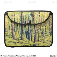 Northern Woodlands Vintage Style Sleeve For MacBooks Designed by AustinLED on www.zazzle.com/austinLED*/.