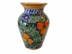 Rustica Gift Naranja Talavera Vase Collection Colores