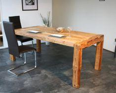 Industrial Modern Dining Table in Walnut от MetalTreeFurniture