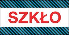 """Etykiety samoprzylepne z napisem """"SZKŁO"""" pozwolą uchronić Twoje cenne, szklane przedmioty przed stłuczeniem!   http://neopak.pl/etykiety-naklejki/szklo-fragile/etykiety-uwaga-szklo-niebieskie-paski-100szt"""