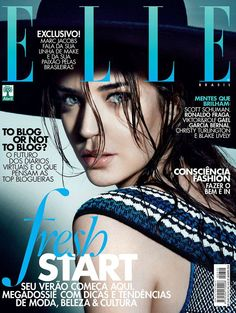 Elle Brazil August 2014 | Clara Alonso by Nicole Heiniger #covers2014