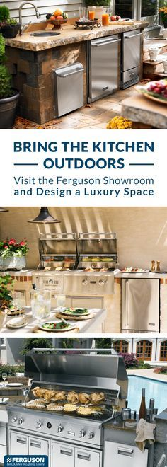 At Ferguson Bath, Kitchen & Lighting Gallery, we have everything you need to design a luxury outdoor kitchen. You'll find a wide range of grills plus so much more like wine coolers, side burners and even outdoor dishwashers. Anything you can dream up, you can find at one our showrooms.