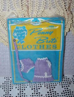 Mint in Package Penny Brite Outfit Sweet Violet 1960's