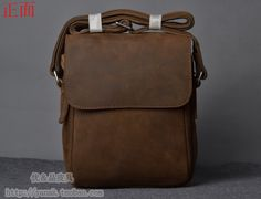 $71.22 2014 new Crazy horse vintage genuine leather handmade casual vertical shoulder messenger bag man bag LF06686-inCrossbody Bags from Luggage & Bags on Aliexpress.com | Alibaba Group