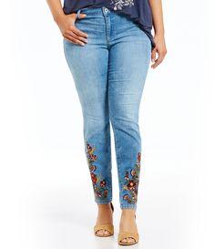 Jessica Simpson Plus Kiss Me Super Skinny Jeans #Dillards