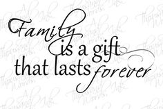 Digital Overlay - Family Gift quote - .png file - digital scrapbook - photoshop