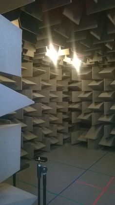 Southampton Solent University Acoustic Chamber, meeting friends.