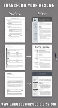A Professional Resume Alluring Professional Ms Word Resume Template Instant Download Matching .