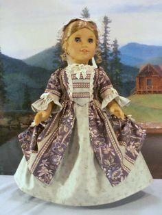 Williamsburg Field in Sage fits American Girl Elizabeth Felicity 18 in dolls
