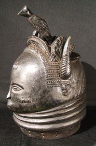 Mende Bundu mask, Sande society, Sierra Leone, #jc1173, authentic African tribal art