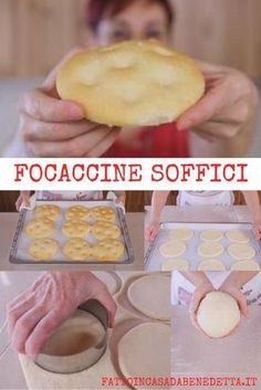 Focaccine soffici, ricetta facile per focaccine semplici e buonissime. Pizza Recipes, Bread Recipes, Cooking Recipes, My Favorite Food, Favorite Recipes, Focaccia Pizza, Easy Homemade Recipes, International Recipes, Easy Cooking