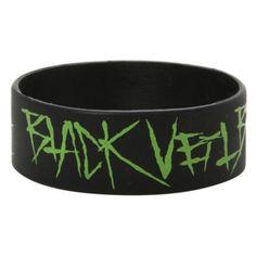 Best Bracelet 2017/ 2018 : Black Veil Brides Spider Web Rubber Bracelet   Hot Topic ($5.60)  liked on Po
