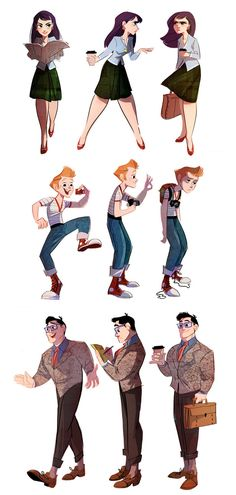 Lois, Jimmy and Clark by *The-Orange-One