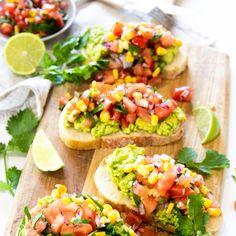 Avocado on toast with Tomato and Corn Salsa Quick & Easy Avocado Toast with Tomato & Corn Salsa Recipe Bean Recipes, Veggie Recipes, Healthy Recipes, Veggie Meals, Healthy Breakfasts, Mexican Recipes, Recipes Dinner, Dinner Ideas, Healthy Snacks