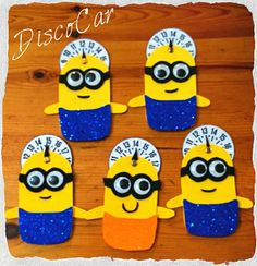 Minion disco orario Minions, Mousse, Hobby, Cards, Gifts, Feltro, Creativity, Lab, Wire