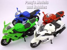 Japanese Sports Motorcycle Collection of 4 different 1/18 Scale Models by NewRay