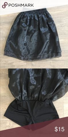 Black long skirt with shorts New never worn , size S , feel free to make a reasonable offer or bundle Skirts Midi
