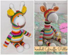Niveau intermédiaire :     Aujourd'hui, le tuto gratuit et traduit en français de la girafe By Emma  !  Elle est juste magnifique et facile...