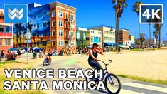 Enjoy this virtual biking tour from Venice Beach to Santa Monica to Pacific Palisades as part of the 22 mile Marvin Braude Bike Trail aka The Strand. Santa Monica Blvd, 7 Continents, Pacific Palisades, Travel Videos, Bike Trails, Venice Beach, Future Travel, California Usa, Virtual Tour