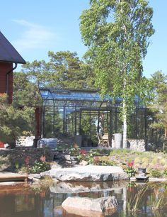 138 best greenhouse orangery images in 2019 glass for Koi pond builders cape town