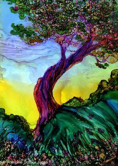 alcohol ink #tree #art