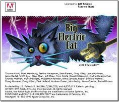 Adobe Photoshop 4.0 – Big Electric Cat - The Evolution Of Photoshop Loading Screens  Best of Web Shrine
