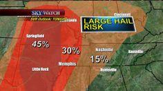 Large Hail Risk for 4-3-2014
