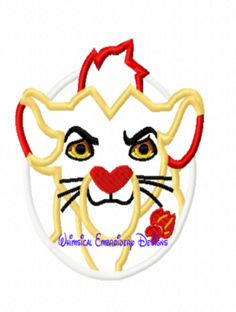 Kion Lion Guard Machine Embroidery APPLIQUE GET INSTANT  DOWNLOAD RIGHT HERE
