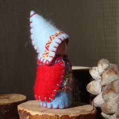 Custom God Jul Winter Gnome RESERVED for RACHEAL2019 Waldorf inspired Storytelling Christmas doll