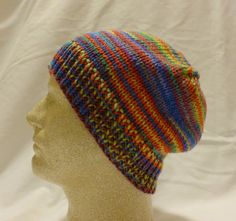 Technicolor  Med/lg beanie made of multicolor by PurlyShells808, $15.00