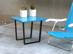 Nueva Colección!! Mesa Soho Laqueda Color ! 50x50 cm.  Blanco / Rojo / Cyan