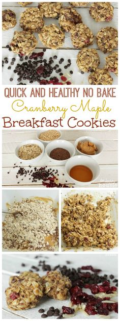 Quick and Healthy Cranberry Maple Breakfast Cookies at The Happy Housie collage