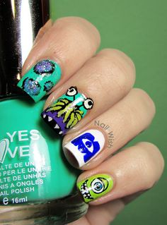 Nail Wish: Disney Challenge Day 38: Monsters INC