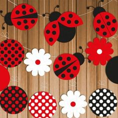 This listing is for a fun ladybug party banner! Mix and match ladybugs, flowers,… This listing is for a fun ladybug party banner! Mix and match ladybugs, flowers, and polka dots to make one or several different party banners and… Continue Reading → Baby Ladybug, Ladybug Party, Ladybug Decor, Ladybug Garden, Ladybug Crafts, Diy And Crafts, Crafts For Kids, Paper Crafts, Decoration Creche
