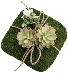 Add an earthy, natural touch to your wedding look with Lillian Rose& unique Moss Ring Pillow. Beautifully accented with succulents, flowers and peps with a charming twine tie it has a one-of-a-kind style. Ring Holder Wedding, Cool Wedding Rings, Beautiful Wedding Rings, Ring Holders, Wedding Ring Cushion, Cushion Ring, Cushion Pillow, Nature Rose, Moss Decor