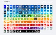 Looking for cool social media icons? Check out this collection with the best 44 sets of free social media icons. Get your free social media vector icons! Flat Design, Web Design, Icon Design, Graphic Design, Metro Icons, Google Material Design, Icon Check, Photoshop Shapes, Free Pen