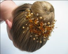 Bun Tiara Winter Minuet Buy Dance tiaras, Swarovski crystal beaded headpieces for ballet dancers