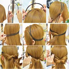 Korean Style Double Layer Adjustable Head Hair Hoop Elastic Hair Rope Hair Band