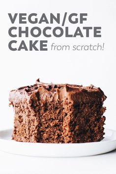 Moist yet fluffy decadent cake with the creamiest frosting.  This Gluten-Free Vegan Chocolate Cake is NOT messing around!