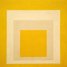 Josef Albers, Homage to the Square: Two Whites between Two Yellows