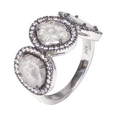 One of a kind Diamond slice ring. Available at 14 Karat Omaha.