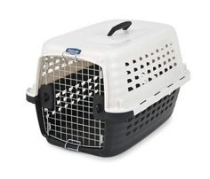 Petmate Compass Fashion Pet Kennel Carrier Chrome Door White 24 Inch