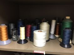Many colors of thread are needed to match a student's piece
