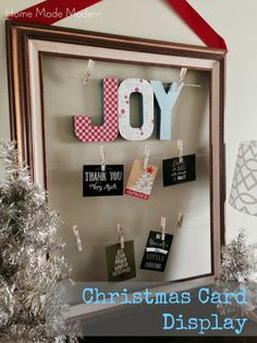Home Made Modern: Christmas Card Display and Gift Ideas