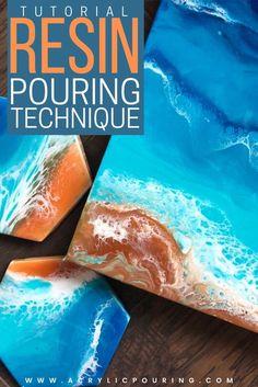 Epoxy Resin Art, Diy Resin Art, Diy Resin Crafts, Acrylic Resin, Acrylic Art, Acrylic Painting Tips, Using Acrylic Paint, Resin Paintings, Watercolor Tips