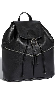 NORDSTROM black leather backpack by Longchamp ($660)