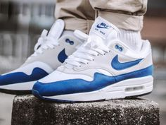 on sale a433d 01944 Nike Air Max 1 OG Anniversary - Game RoyalWhite - 2017.